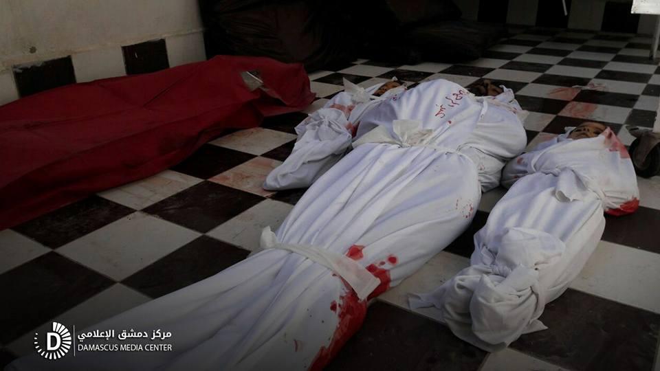 تقرير صادم: 40 مجزرة وأكثر من 700 قتيل، حصيلة ثلاثة أشهر من القصف على الغوطة