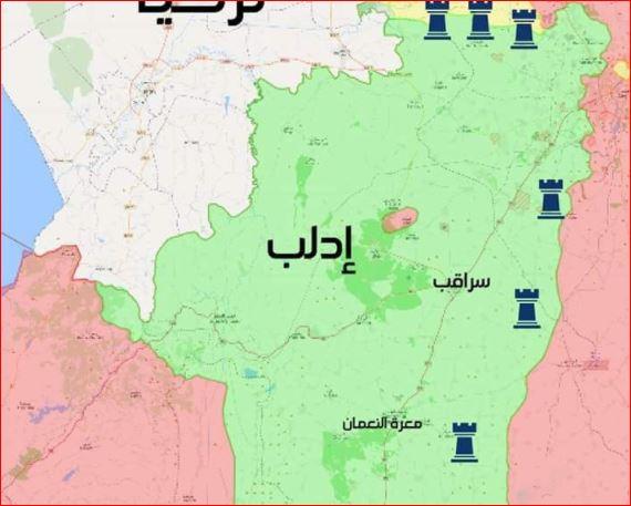 6 نقاط مراقبة تركية في حلب وإدلب حتى الآن .. تعرف على مناطق وجودها
