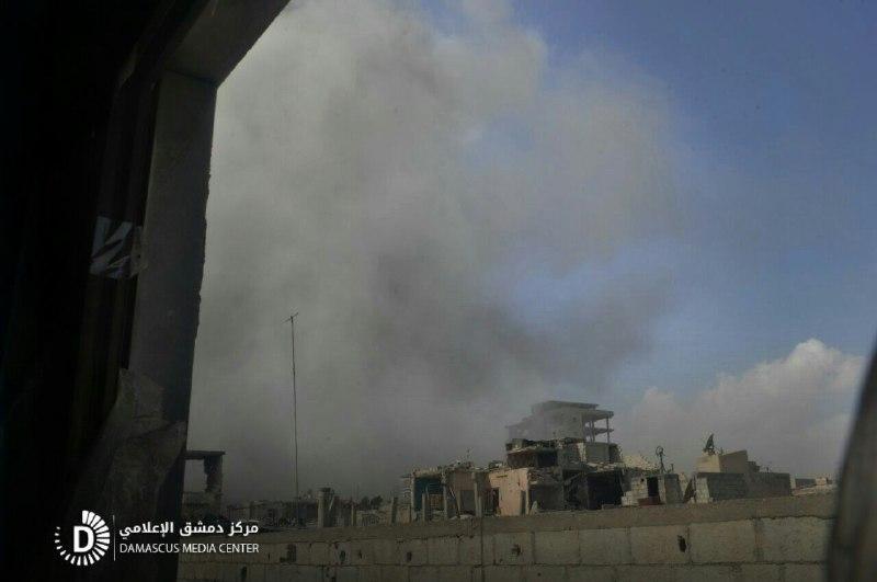 مجازر النظام في الغوطة مستمرة.. 13 شهيداً في دوما وحرستا