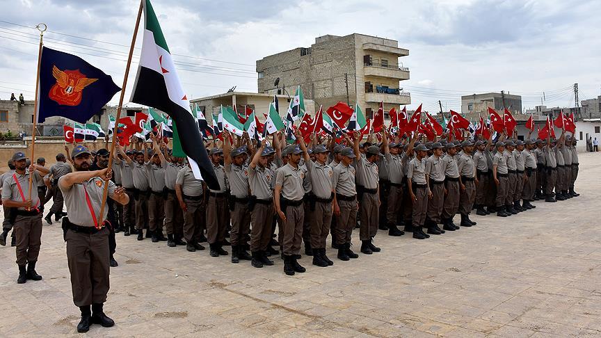 تخريج دفعة جديدة من الشرطة السورية الحرة في أعزاز