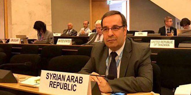 حكومة النظام تترأس غداً أعمال مؤتمر نزع السلاح التابع للأمم المتحدة، والائتلاف يعلق