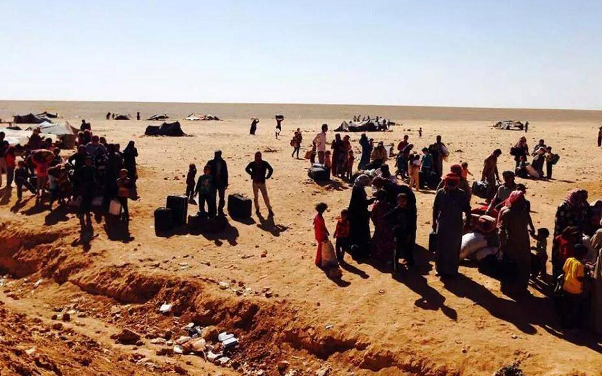 45 ألف نازح من درعا ياتجاه الحدود الأردنية