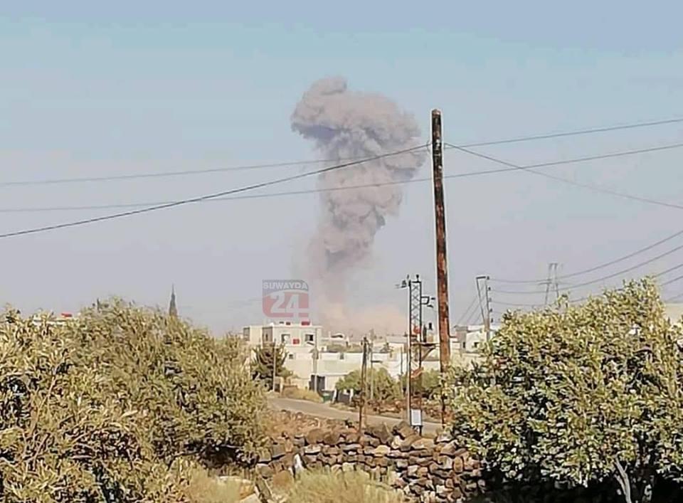 انفجار مجهول في مطار خلخلة العسكري بالسويداء