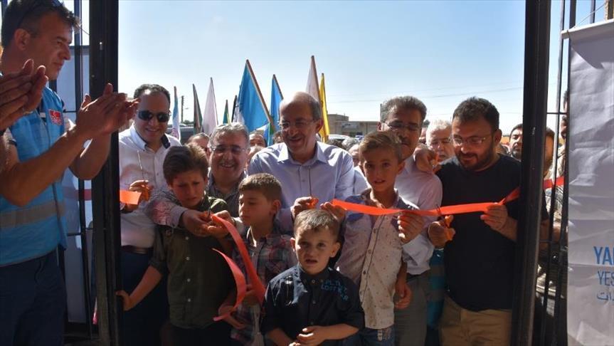 جمعية خيرية تركية تفتتح مدرسة في ريف عفرين