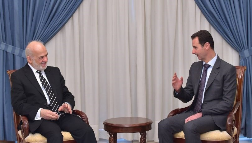 وزير الخارجية العراقي يلتقي بشار الأسد في دمشق اليوم