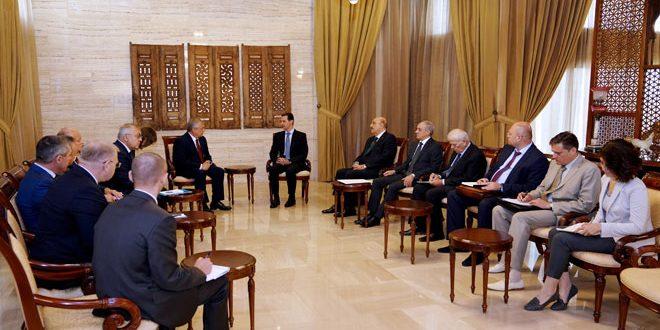 وفد روسي رفيع يزور دمشق ويلتقي بالأسد