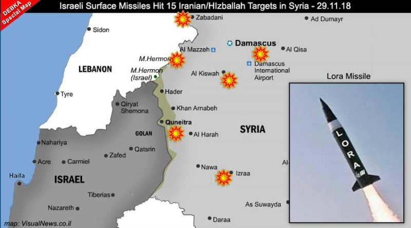 موقع إسرائيلي يكشف تفاصيل الهجوم الصاروخي جنوبي سورية