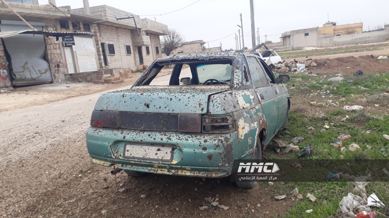 جرحى مدنيون في قصف صاروخي على خان شيخون