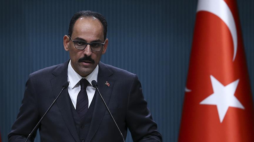 قالن: ادعاءات أمريكا استهداف الأكراد من قبل تركيا