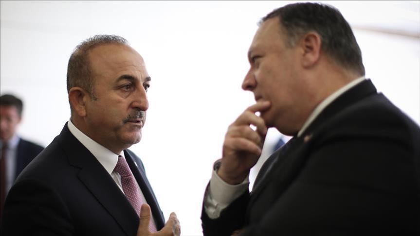 بومبيو وجاويش أوغلو يبحثان الوضع في سوريا