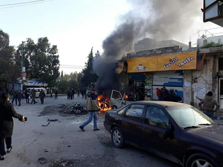 قتيل وعدة مصابين جراء انفجار وسط مدينة اللاذقية (صور)