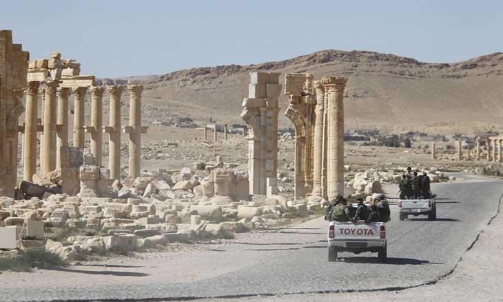 ميليشيات تابعة لإيران تبدأ حملة تنقيب جديدة عن الآثار في تدمر