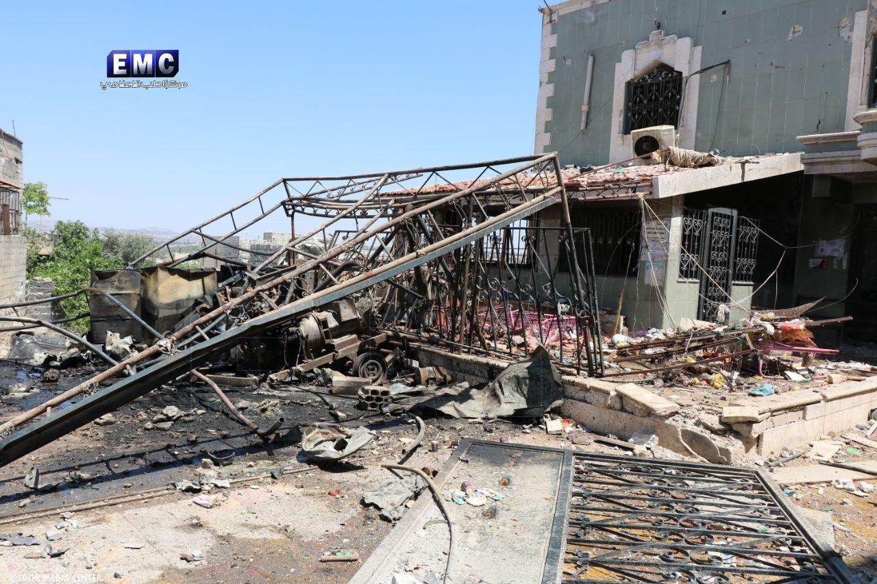حصاد أخبار الثلاثاء-  غارات جوية تخرج مشفى عن الخدمة في ريف إدلب، وميلشيا قسد توسع تعاونها النفطي مع نظام الأسد -(28-5-2019)