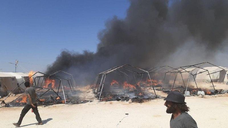حصاد أخبار الاثنين - نظام الأسد وروسيا يواصلان خرق هدنة إدلب، واندلاع حريق ضخم في مخيم للنازحين شمال حلب -(2-9-2019)