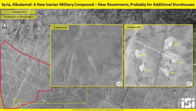 إيران تنشئ قاعدة عسكرية جديدة في البوكمال (صور)