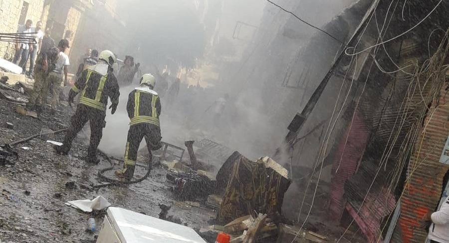 سقوط جرحى جراء انفجار سيارة مفخخة في عفرين