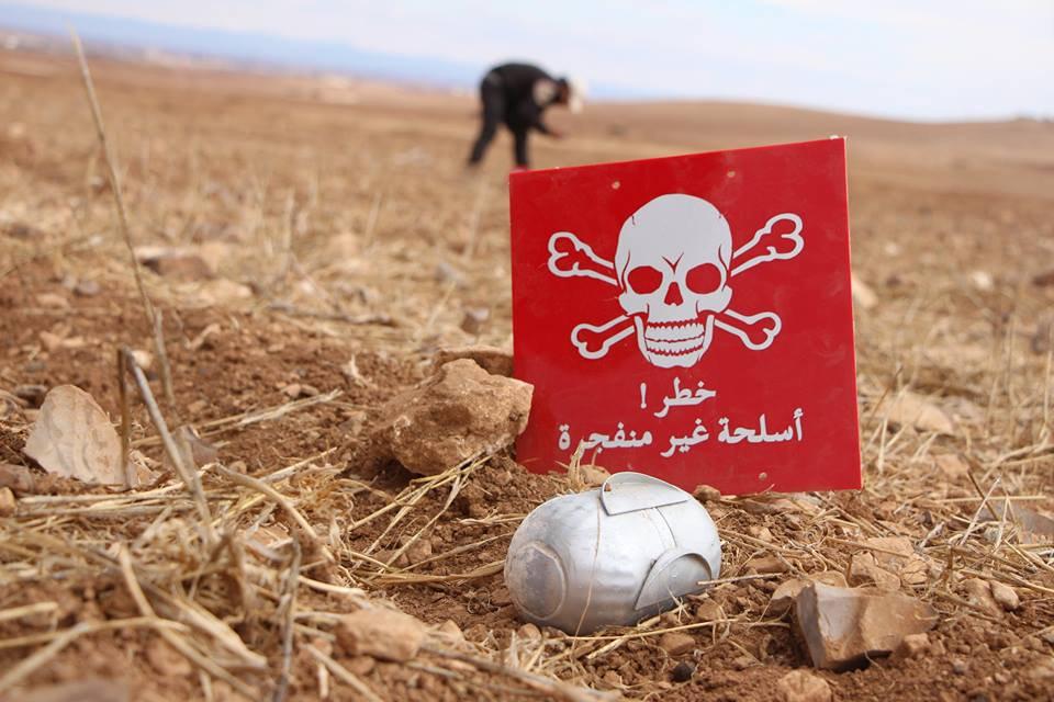 الأمم المتحدة: 10 ملايين سوري يعيشون في مناطق مليئة بالألغام والذخائر غير المنفجرة