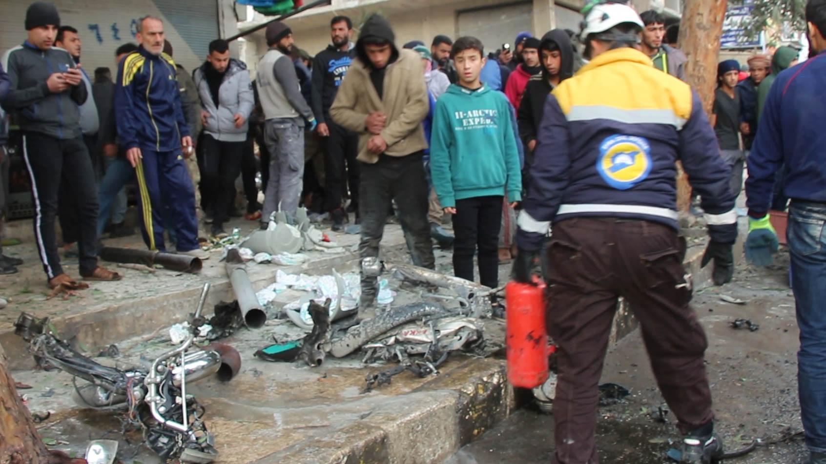 جرحى جراء انفجار دراجتين مفخختين في جرابلس