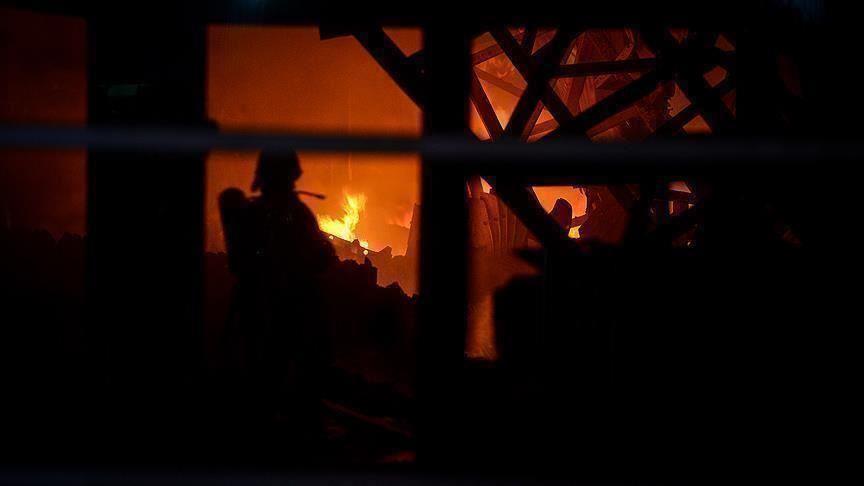 إصابة 3 لاجئين سوريين في حريق شمالي لبنان