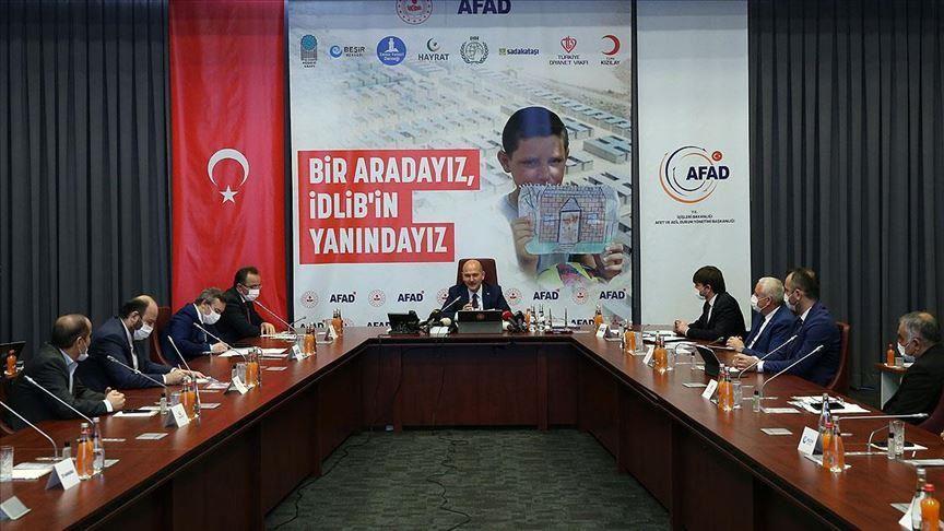 الداخلية التركية: حملة إغاثة نازحي إدلب تجمع 105 ملايين دولار