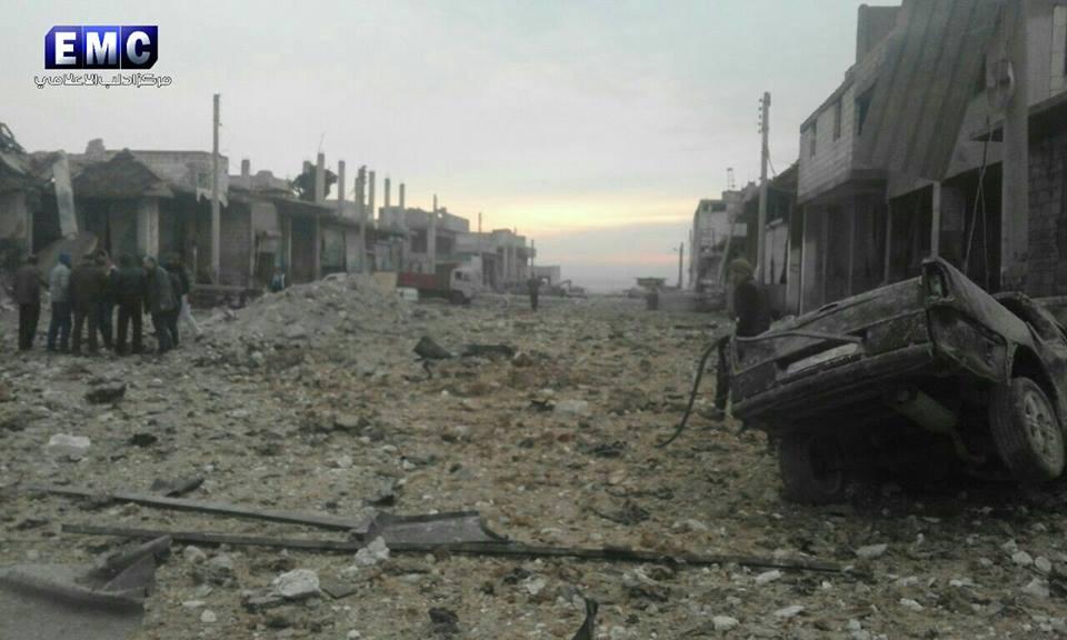 نشرة أخبار سوريا- ورشات الصيانة تصلح مضخات عين الفيجة، ومجزرة جديدة في رصيد روسيا بريف إدلب -(14-1-2017)