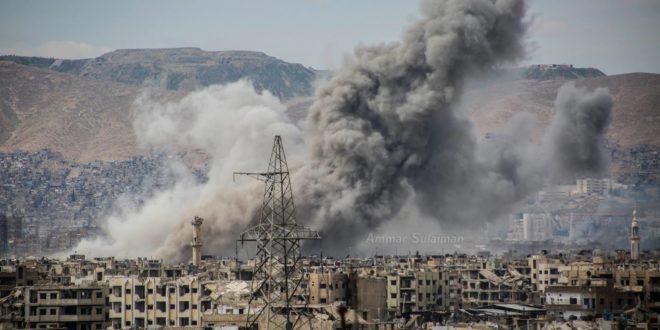 قصف عنيف على مدن وأحياء دمشق.. 170 قذيفة مدفعية يوم أمس
