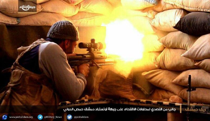 الثوار ينسفون 10 عناصر للنظام على جبهة الميدعاني بريف دمشق