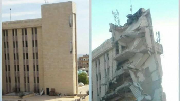 غارة للتحالف الدولي تدمر مبنى الهلال الأحمر في إدلب وتخرجه عن الخدمة