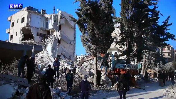 روسيا تدّعي عدم مسؤوليتها عن مجزرة إدلب التي حصدت أرواح ثلاثين مدنياً
