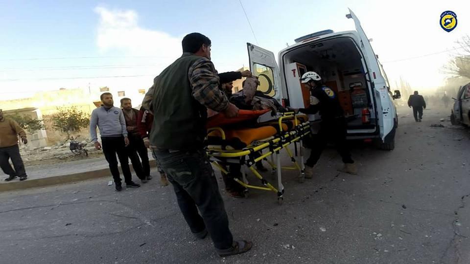 نشرة أخبار سوريا-مجزرة مروعة للنظام على مدينة معرة مصرين بإدلب، وأخرى للميلشيات الكردية على قرية كلجبرين بريف حلب-(21-2-2017)