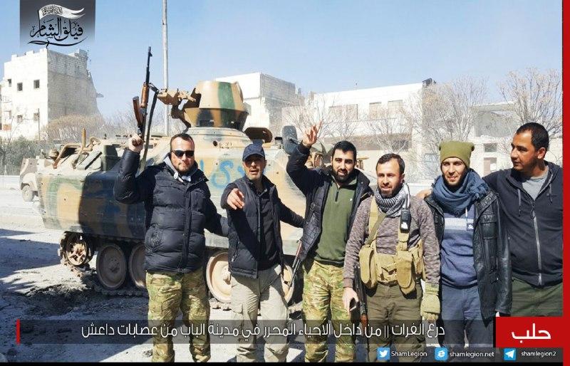 الجيش الحر يحكم قبضته على كامل مدينة الباب، بعد طرد تنظيم الدولة منها