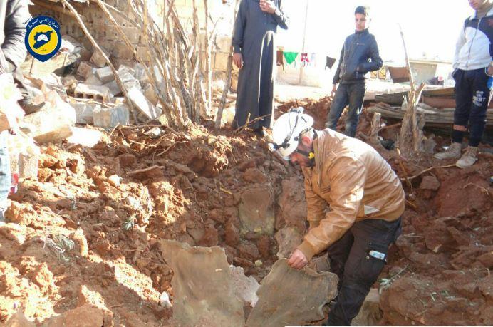 مروحيات النظام تلقي 502 برميلاً متفجراً على مدن سوريا خلال شباط الماضي