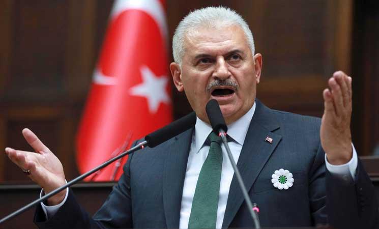 يلدريم يدعو أميركا وروسيا للتنسيق مع بلده، ويأسف لتعاون واشنطن مع الأكراد
