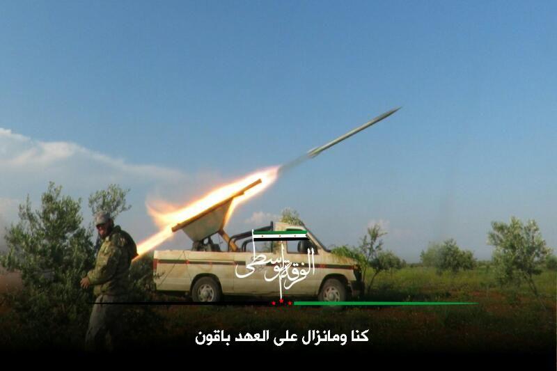 مقتل ضابطين روسيين ومجموعة من قوات النظام إثر استهداافهم بصاروخ تاو شمال حماة