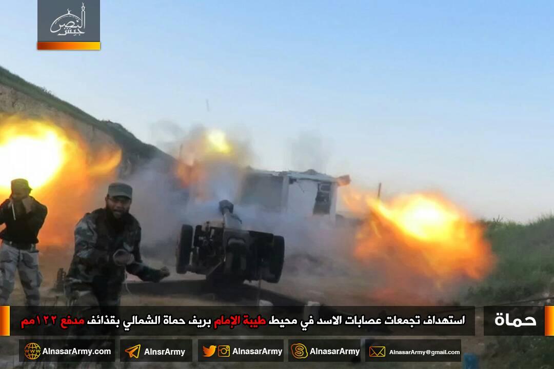 فصائل المعارضة تصد هجوماً على حلفايا، وتحاول استعادة طيبة الإمام بريف حماة