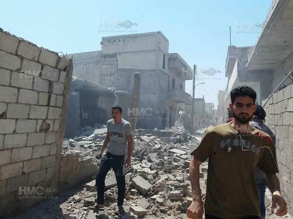 قصف مدفعي وغارات جوية للنظام على مدن ريف حمص الشمالي