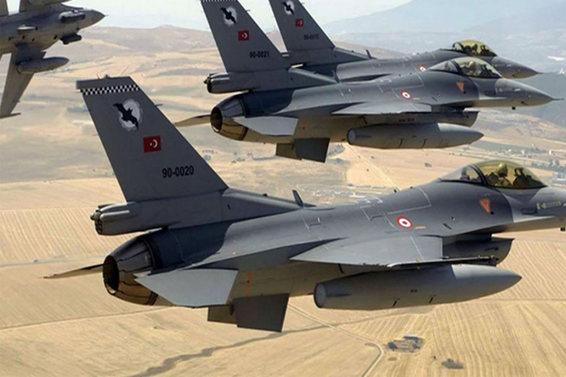 حوالي 200 قتيل من المليشيات الكردية بقصف للطيران التركي على مواقعهم شمال حلب