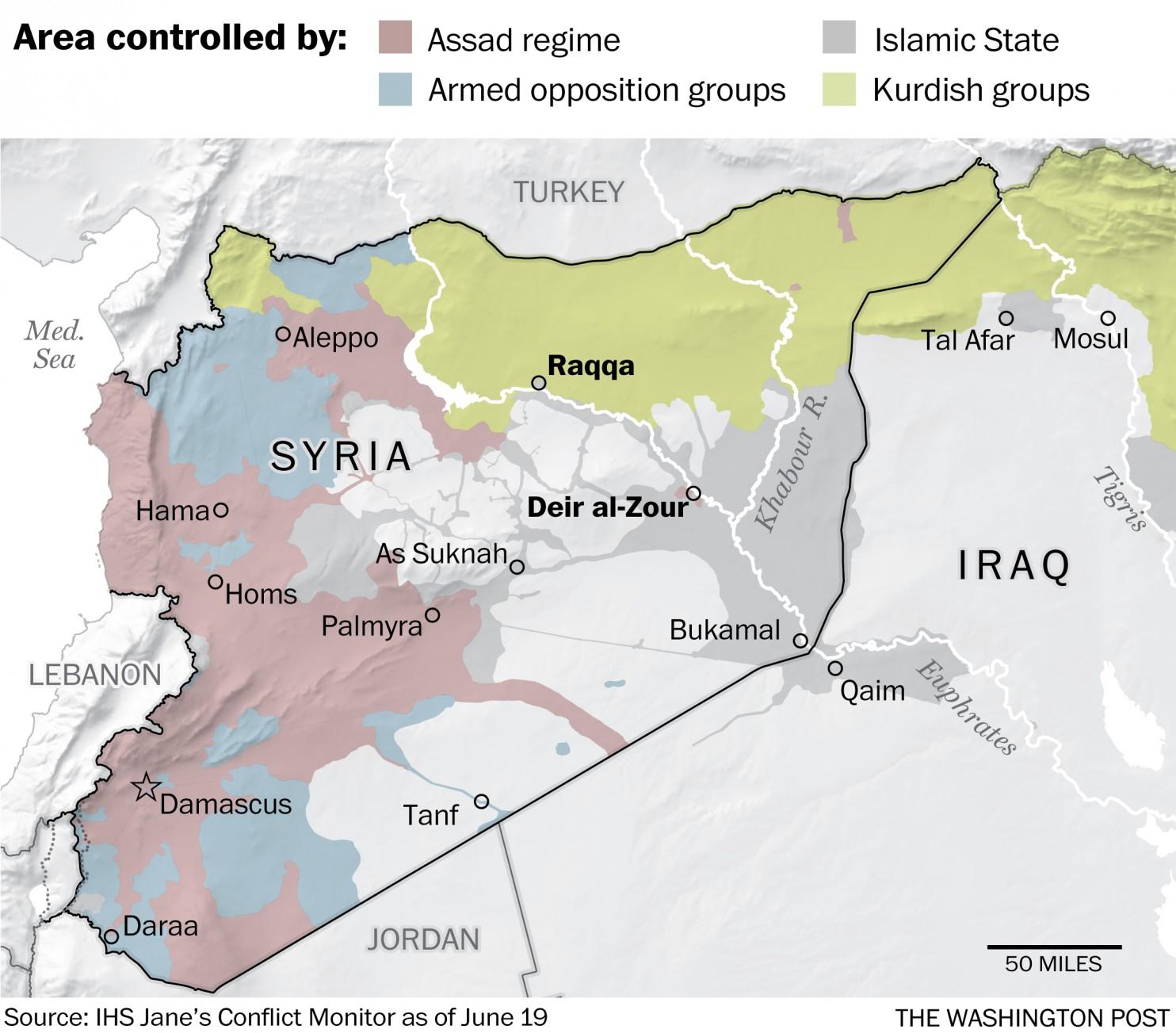 تقسيم سورية وصراعات النفوذ
