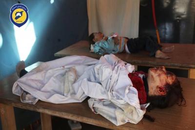 91 قتيلاً -تقبلهم الله في الشهداء- حصيلة ضحايا قصف الطيران الروسي الأسدي يوم أمس الاثنين