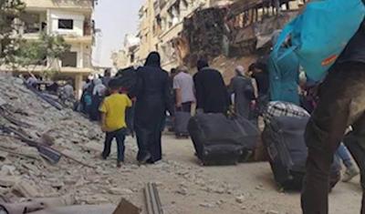 1500 مدني يستعدون للخروج من المعضمية صباح الغد