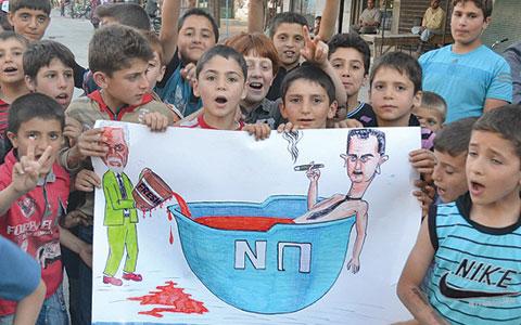 حالة حرب في حماه.. وإضراب الوسط التجاري في دمشق