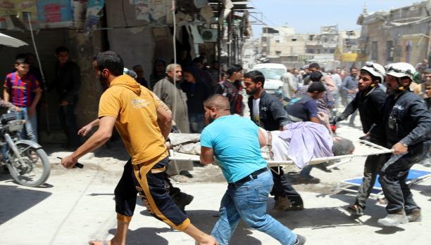 أكثر من 3200 برميل وصاروخ على حلب خلال شهر مايو