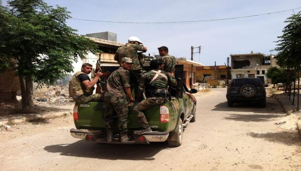 حملة للنظام السوري بريف حماة لتأمين محطة حرارية
