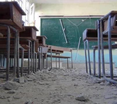 أخبار سوريا_ طيران أسد يقصف بصاروخي أرض ـ أرض مدرسة المتفوقين في دوما، و