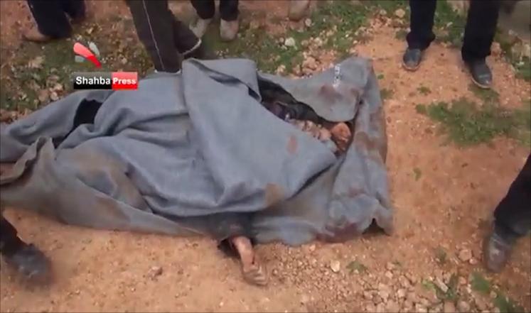 أخبار سوريا_  مجزرة مروعة ترتكبها قوات أسد بحق 48 مدنياً في قرية حردتنين، ومقتل قيادي في حزب الله خلال المعارك في ريف حلب_(21-2-2015 )