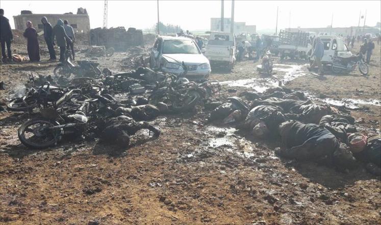 بالأسماء، ضحايا المفخخة التي حصدت أرواح أكثر من 50 مدنياً بريف حلب الشرقي