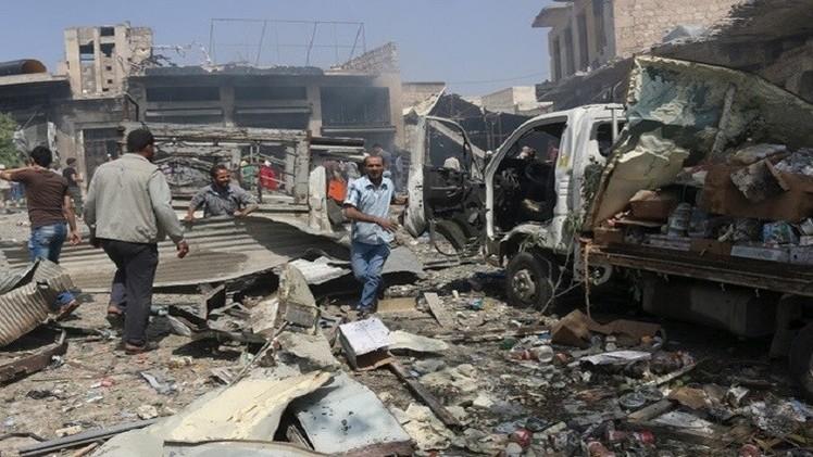 12 غارة جوية وعشرات القذائف والصواريخ على مدينة دوما منذ الصباح