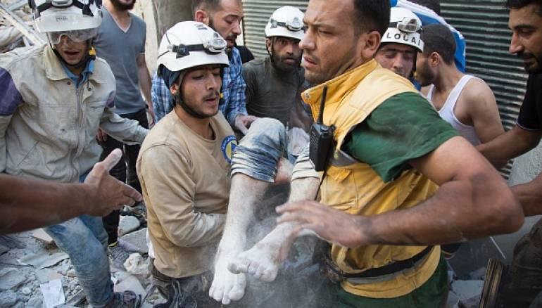 97 قتيلاً بقصف الطيران الروسي الأسدي يوم أمس الجمعة