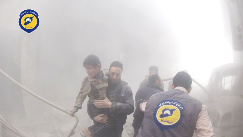 قصف جنوني على أحياء دمشق.. 55 غارة جوية على حي جوبر منذ الصباح