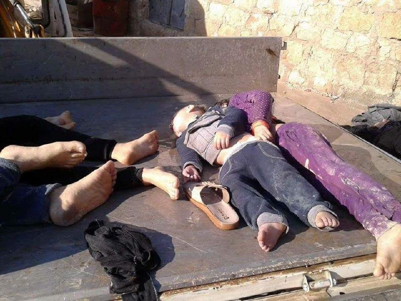 لليوم الثاني على التوالي.. الطيران يستهدف ريف إدلب بالغازات السامة وأكثر من 100 ضحية و500 مصاب